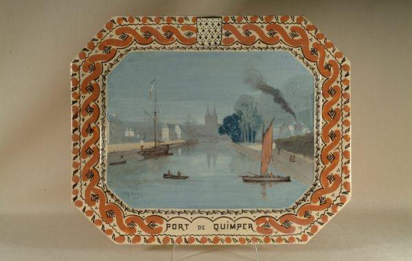 """Plat """"Le port de Quimper"""""""