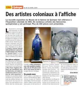 article coté quimper 2014