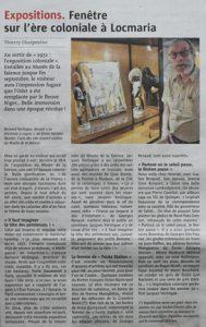 Article Le Télégramme du 3 août 2014