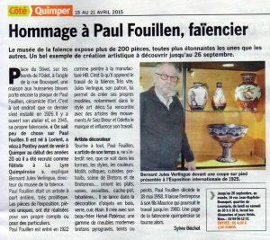 article coté quimper avril 2015