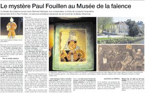 Article ouest france du 11 avril 2015