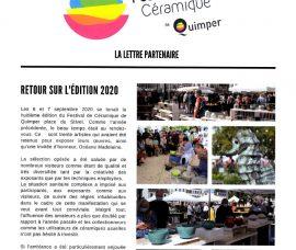 Lettre aux partenaires du Festival Céramique de Quimper